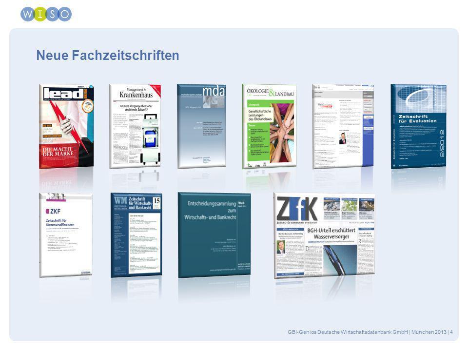 GBI-Genios Deutsche Wirtschaftsdatenbank GmbH | München 2013| 15 Mehr Übersicht bei der Regionalpresse Bündelung identischer Artikel aus verschiedenen Regionalausgaben Auswahl der Lokalteile über die Erweiterte Suche