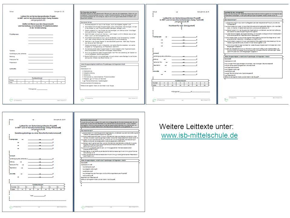 Weitere Leittexte unter: www.isb-mittelschule.de