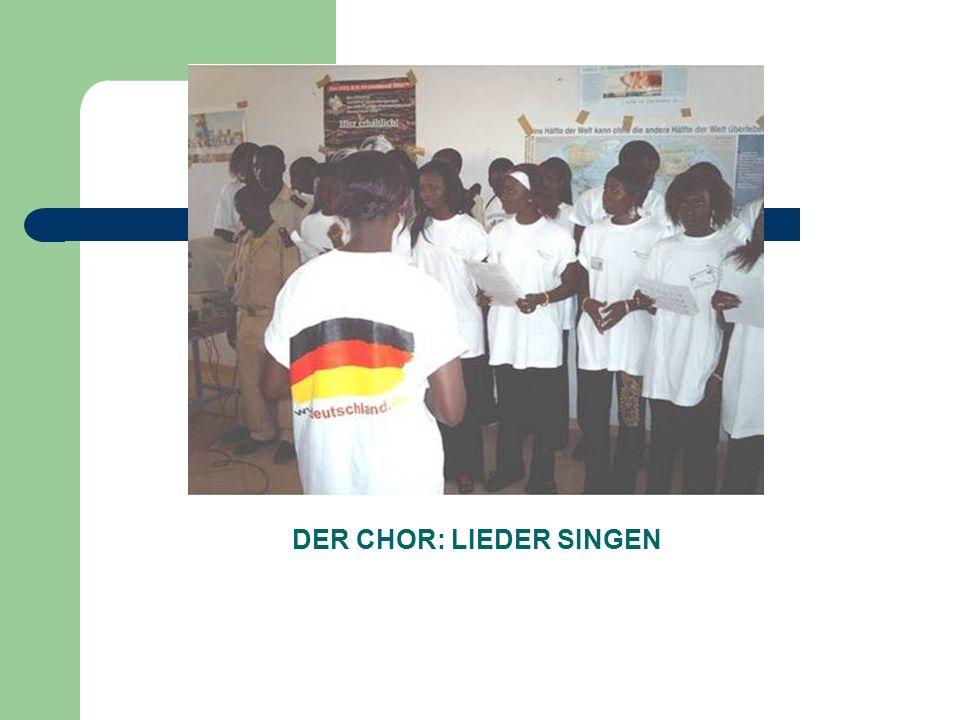 DER CHOR: LIEDER SINGEN