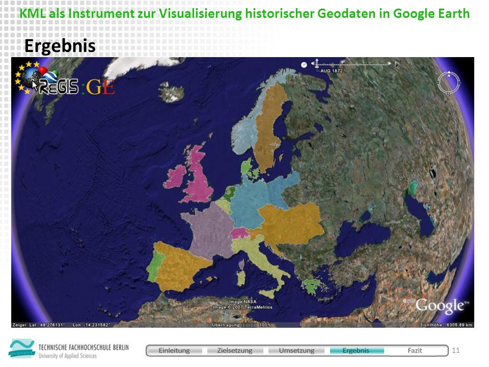 Ergebnis 11 KML als Instrument zur Visualisierung historischer Geodaten in Google Earth