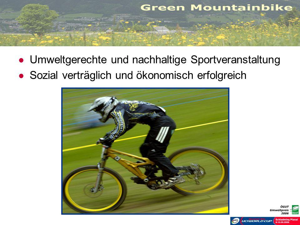 Umweltgerechte und nachhaltige Sportveranstaltung Sozial verträglich und ökonomisch erfolgreich