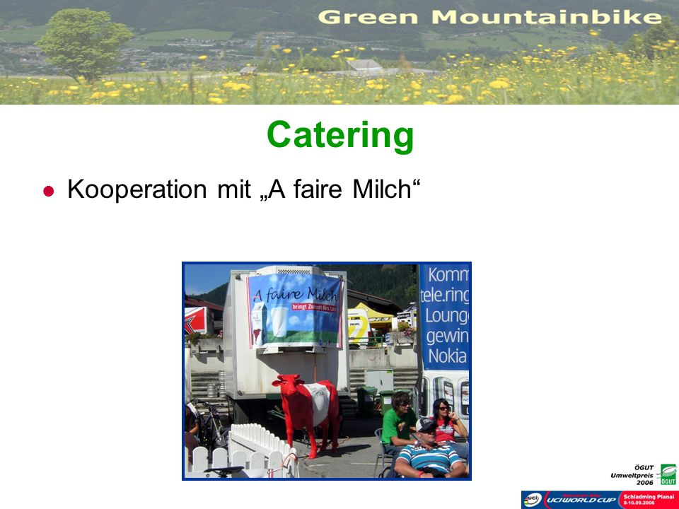 Catering Kooperation mit A faire Milch