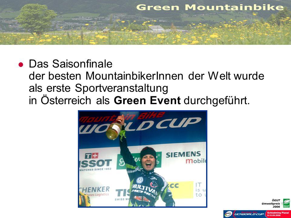 Das Saisonfinale der besten MountainbikerInnen der Welt wurde als erste Sportveranstaltung in Österreich als Green Event durchgeführt.