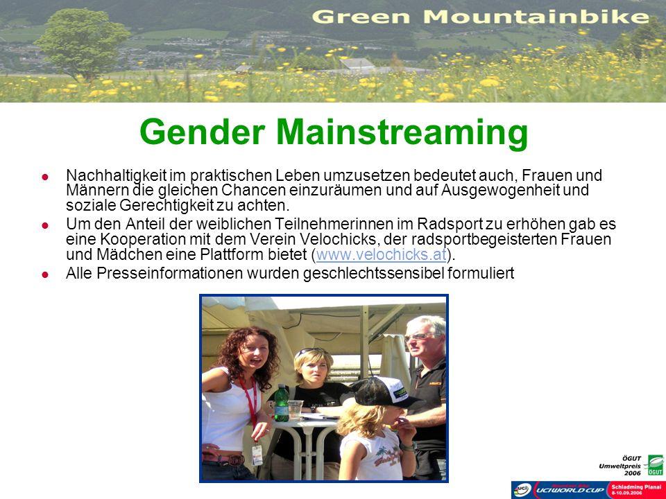 Gender Mainstreaming Nachhaltigkeit im praktischen Leben umzusetzen bedeutet auch, Frauen und Männern die gleichen Chancen einzuräumen und auf Ausgewo