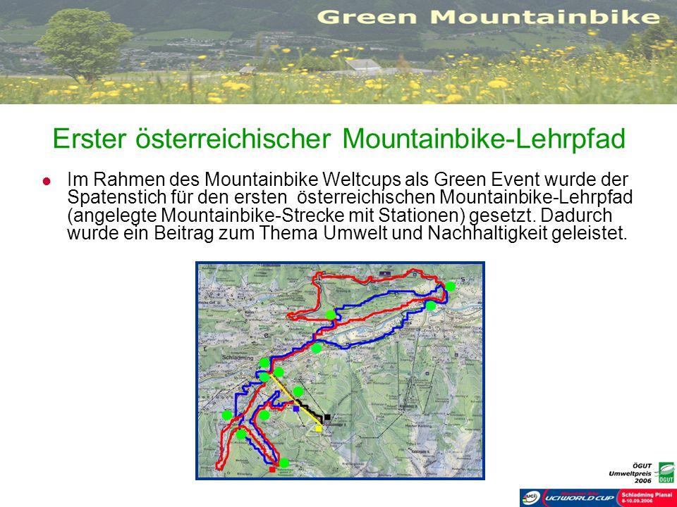 Erster österreichischer Mountainbike-Lehrpfad Im Rahmen des Mountainbike Weltcups als Green Event wurde der Spatenstich für den ersten österreichische