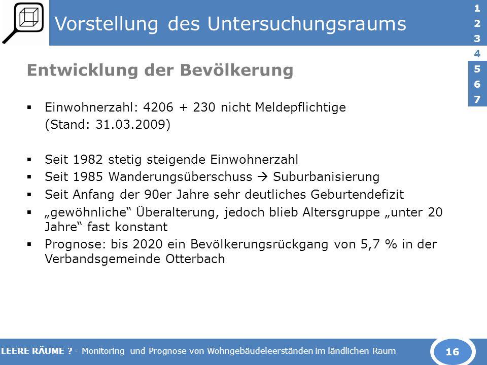 LEERE RÄUME .- Monitoring und Prognose von Wohngebäudeleerständen im ländlichen Raum 5.