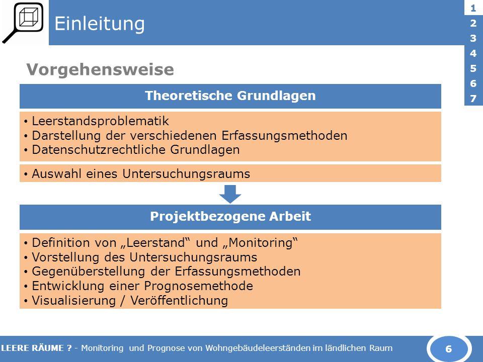 LEERE RÄUME .- Monitoring und Prognose von Wohngebäudeleerständen im ländlichen Raum 2.