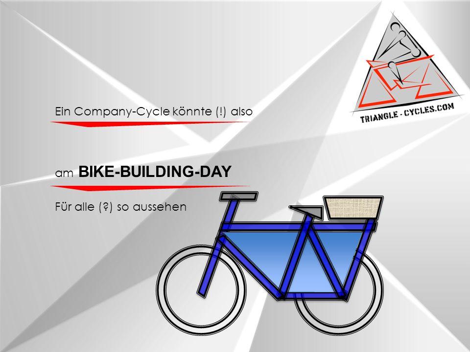 am BIKE-BUILDING-DAY Für alle (?) so aussehen Ein Company-Cycle könnte (!) also