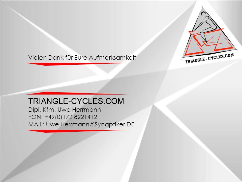 Vielen Dank für Eure Aufmerksamkeit TRIANGLE-CYCLES.COM Dipl.-Kfm.