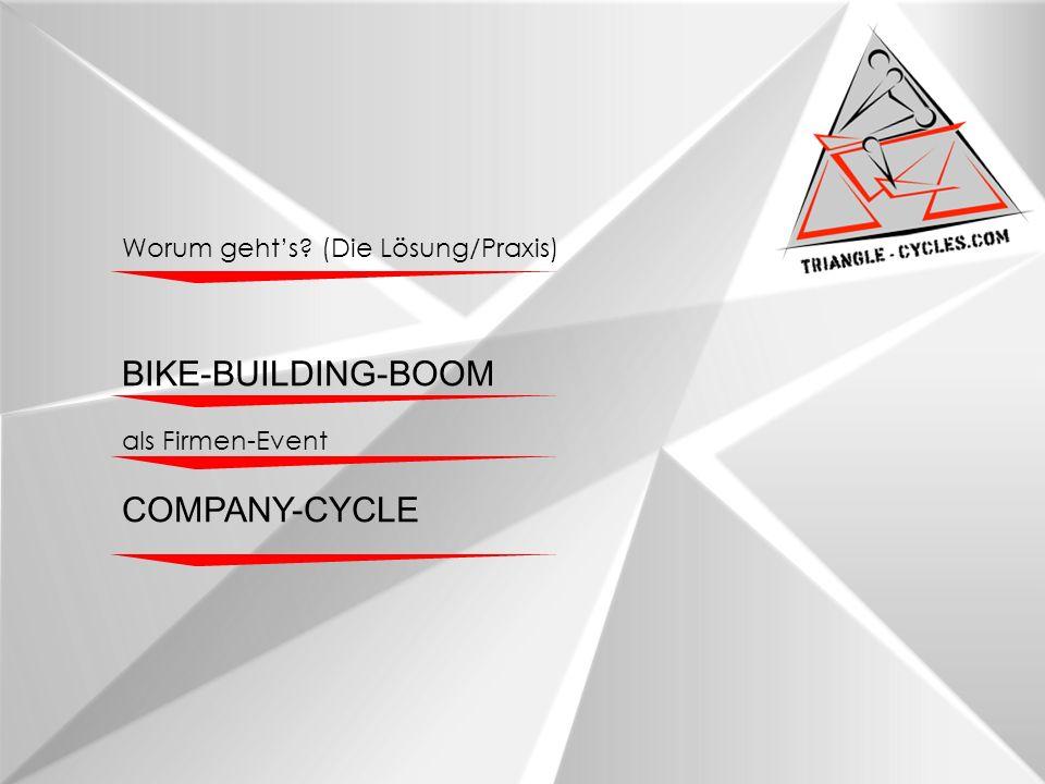 Worum gehts? (Die Lösung/Praxis) BIKE-BUILDING-BOOM als Firmen-Event COMPANY-CYCLE