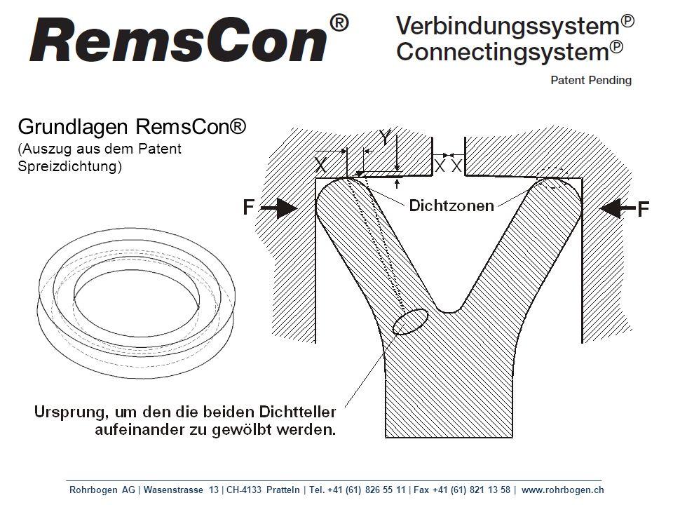 Grundlagen RemsCon® (Auszug aus dem Patent Spreizdichtung)