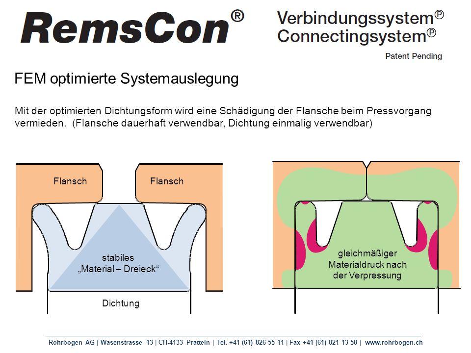 Rohrbogen AG | Wasenstrasse 13 | CH-4133 Pratteln | Tel. +41 (61) 826 55 11 | Fax +41 (61) 821 13 58 | www.rohrbogen.ch FEM optimierte Systemauslegung
