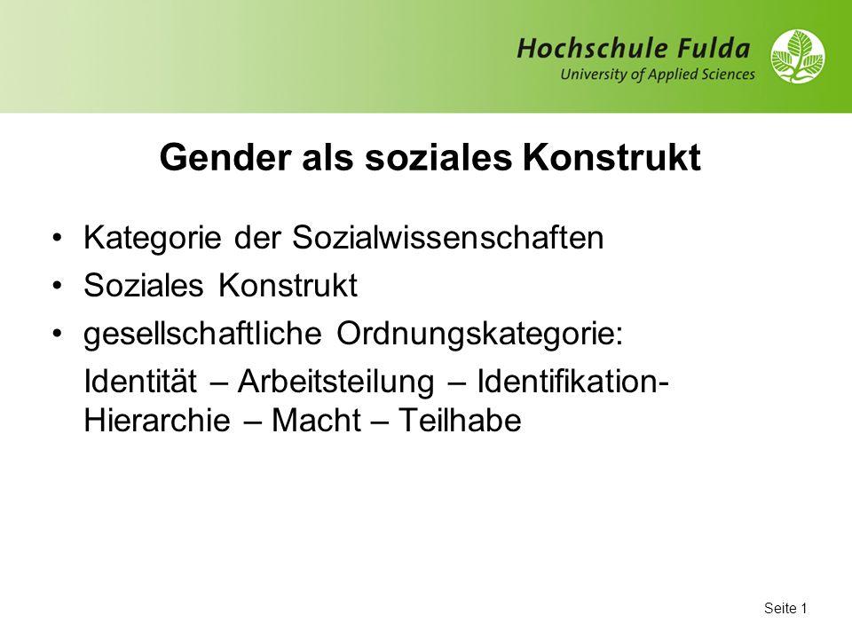 Gender Beziehungen und Gender Politik in Deutschland Ausgangslage – Entwicklung – Perspektiven Prof. Dr. Martina Ritter