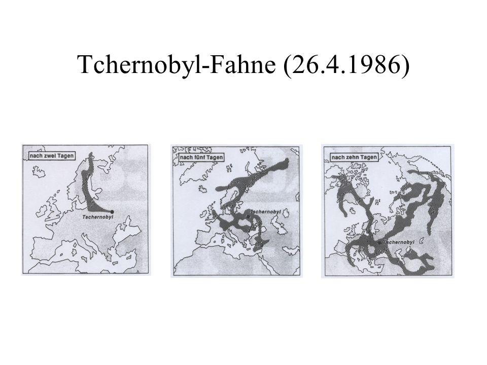 Tchernobyl-Fahne (26.4.1986)
