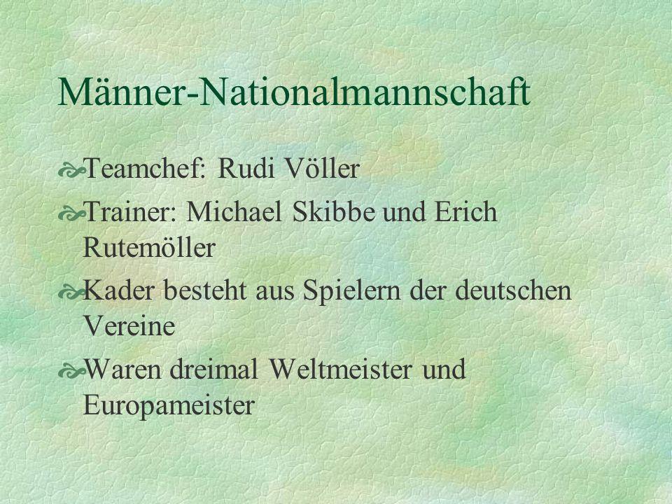 Frauen-Nationalmannschaft Trainerinnen: Tina Theune-Meyer und Silvia Neid Kader besteht aus Spielerinnen der Frauen- Bundesliga