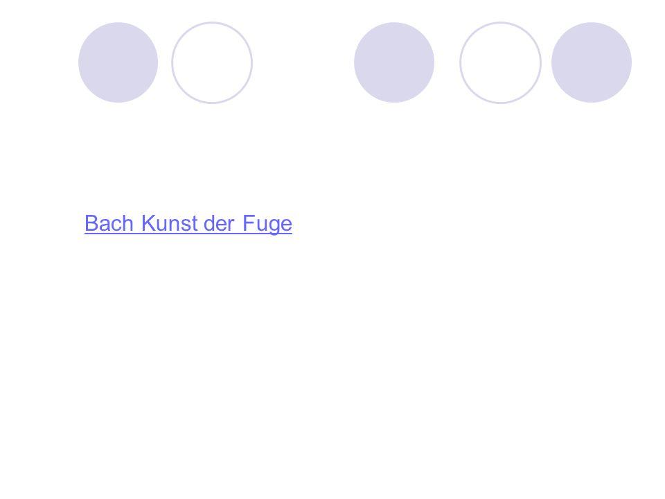 Bach Kunst der Fuge