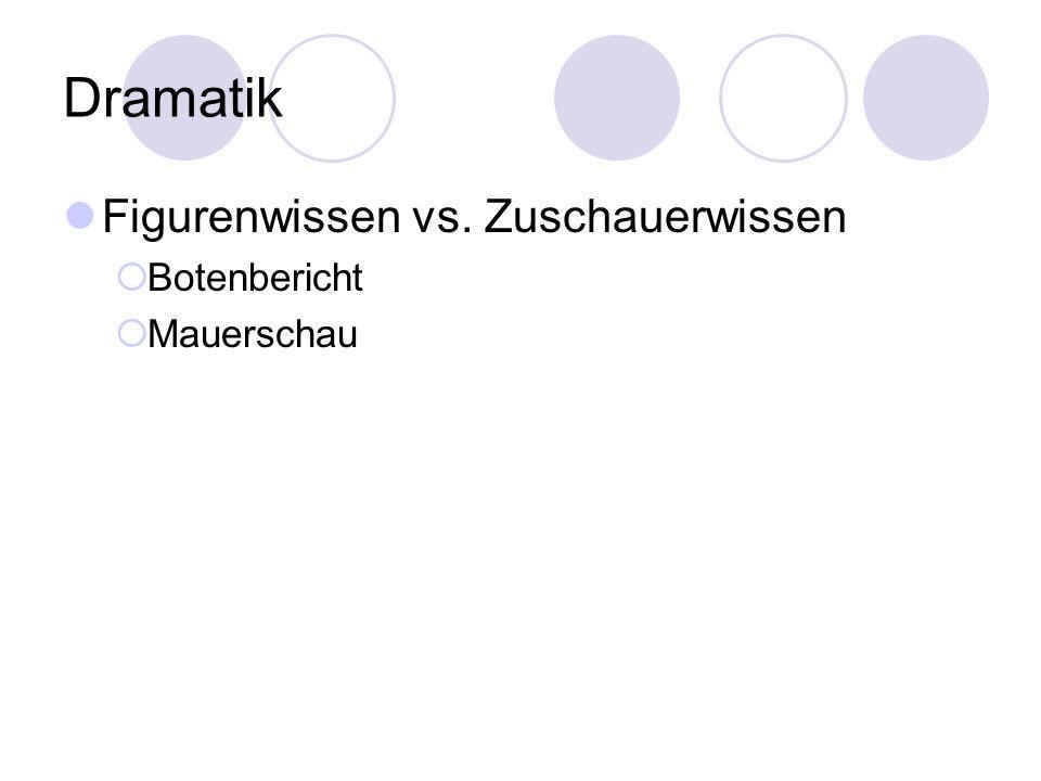 Dramatik Figurenwissen vs. Zuschauerwissen Botenbericht Mauerschau