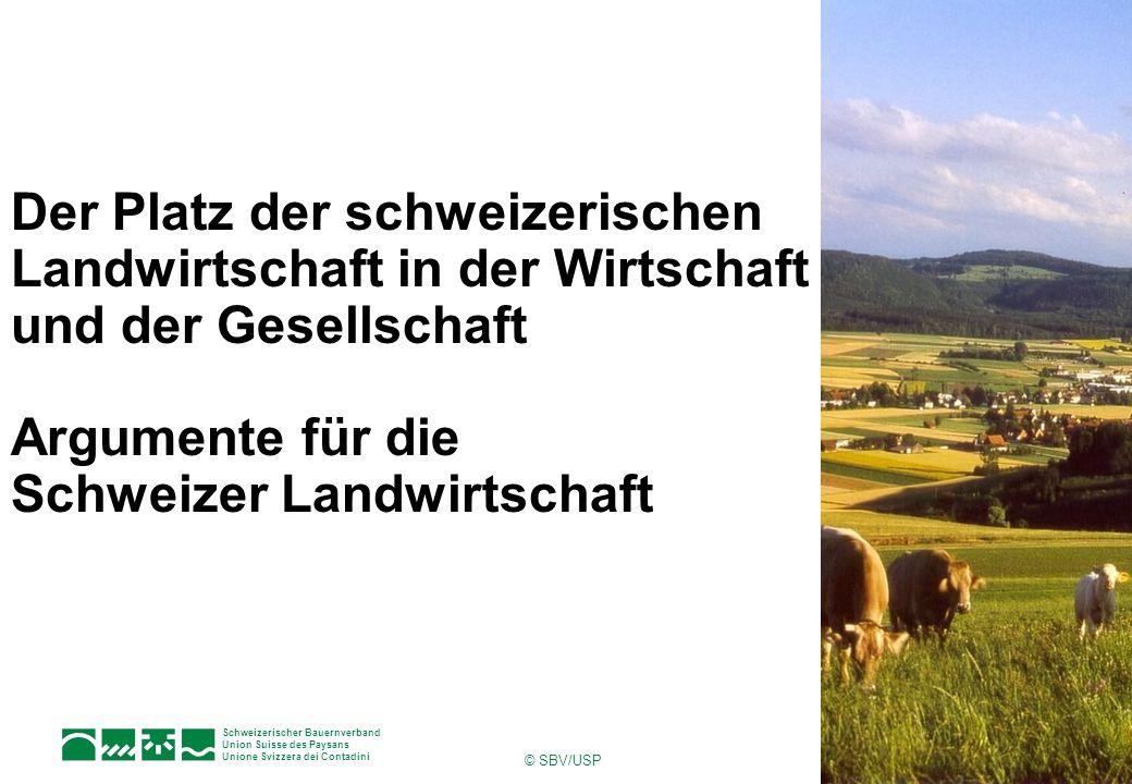 1Seite Schweizerischer Bauernverband Union Suisse des Paysans Unione Svizzera dei Contadini © SBV/USP Der Platz der schweizerischen Landwirtschaft in der Wirtschaft und der Gesellschaft Argumente für die Schweizer Landwirtschaft