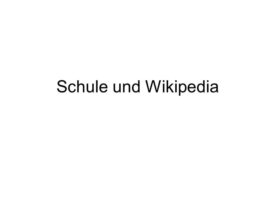 Schule und Wikipedia