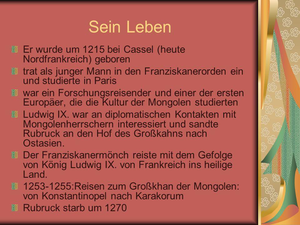 Sein Leben Er wurde um 1215 bei Cassel (heute Nordfrankreich) geboren trat als junger Mann in den Franziskanerorden ein und studierte in Paris war ein