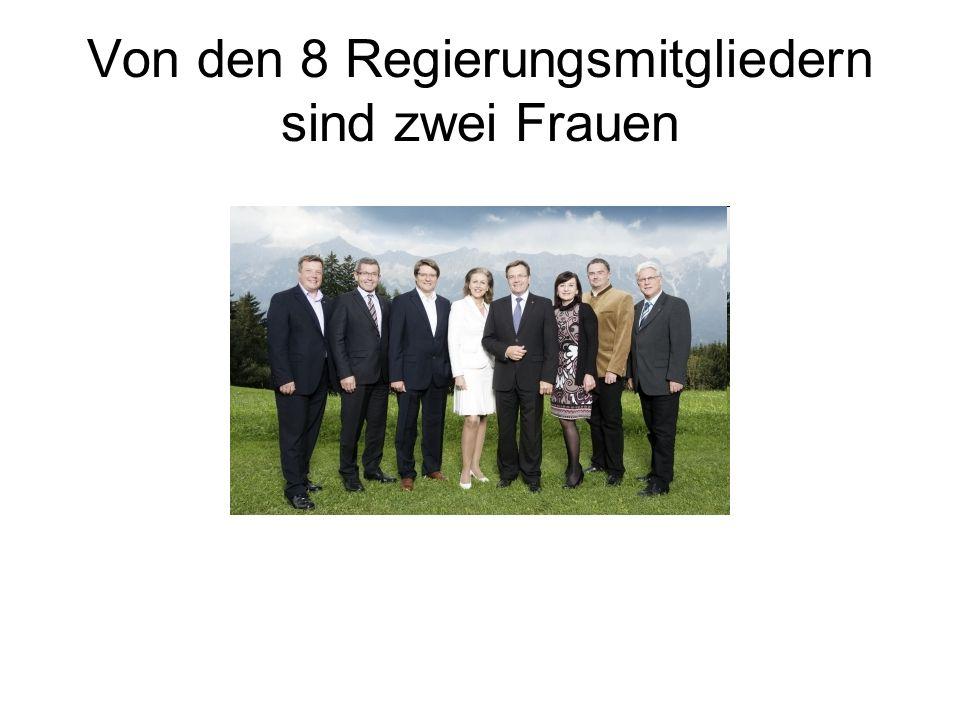 Von den 8 Regierungsmitgliedern sind zwei Frauen