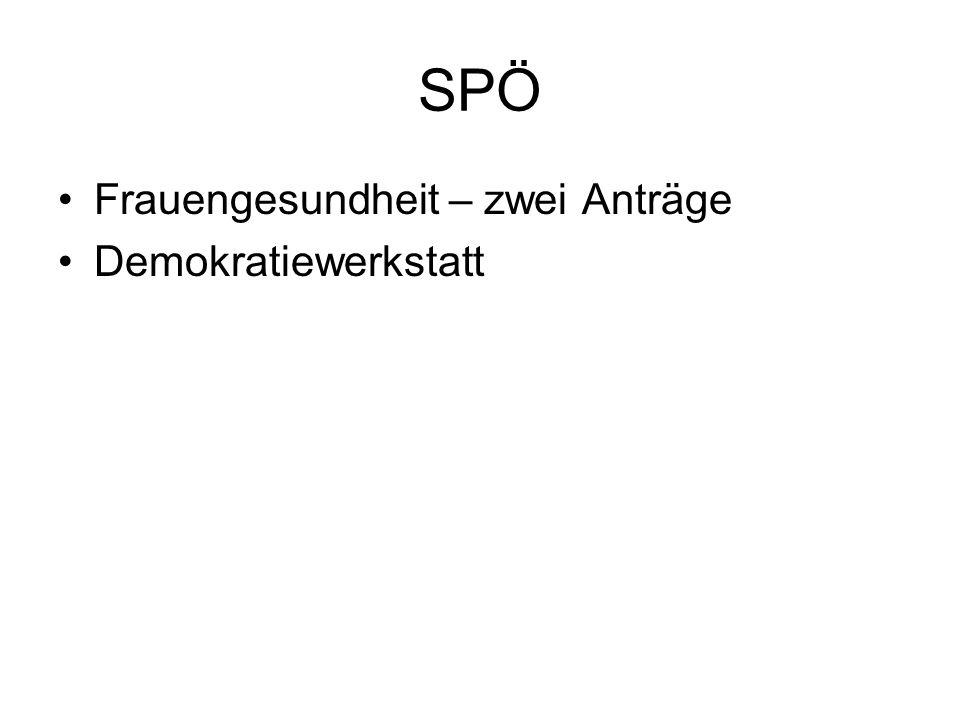 SPÖ Frauengesundheit – zwei Anträge Demokratiewerkstatt