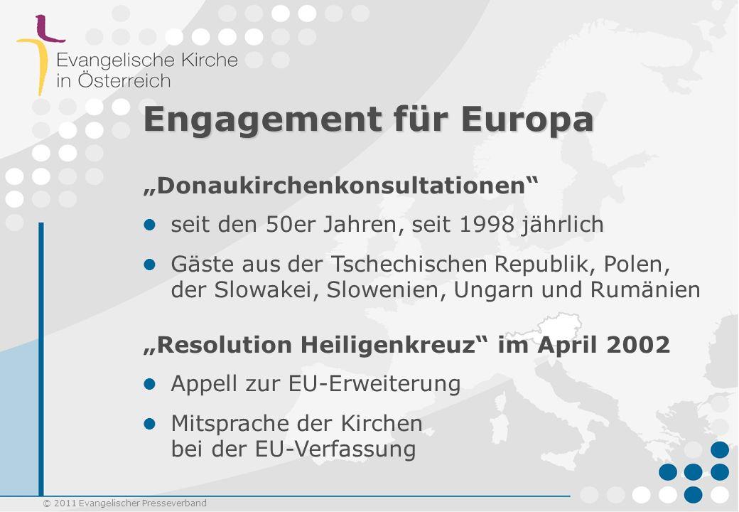 Engagement für Europa Donaukirchenkonsultationen Resolution Heiligenkreuz im April 2002 seit den 50er Jahren, seit 1998 jährlich Gäste aus der Tschech
