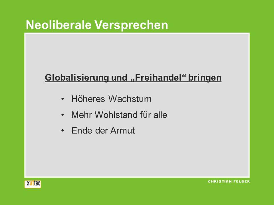 Je mehr internationale Arbeitsteilung … Je mehr Export … Je mehr Globalisierung … desto besser.