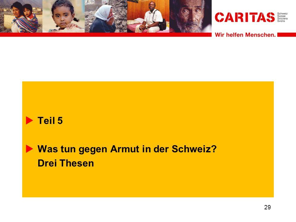 Teil 5 Was tun gegen Armut in der Schweiz Drei Thesen 29