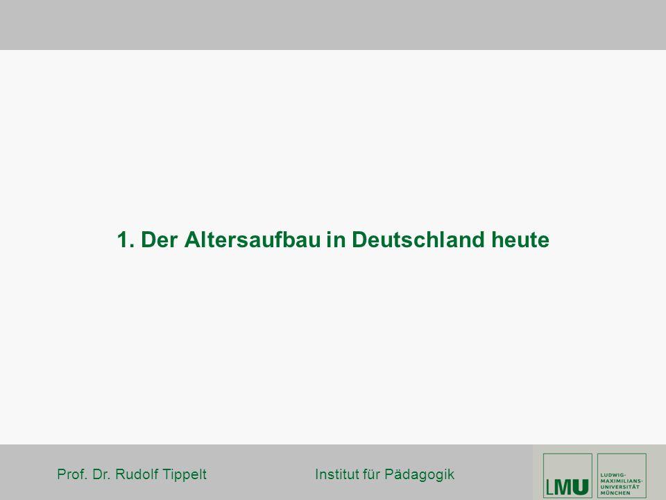 Prof. Dr. Rudolf Tippelt Institut für Pädagogik 1. Der Altersaufbau in Deutschland heute