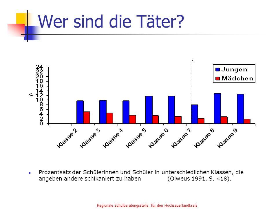 Regionale Schulberatungsstelle für den Hochsauerlandkreis Wer sind die Täter.