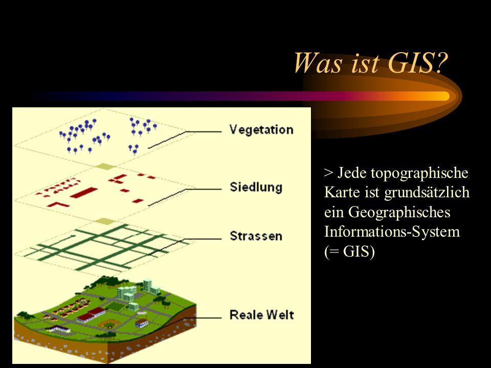 Was ist GIS? > Jede topographische Karte ist grundsätzlich ein Geographisches Informations-System (= GIS)