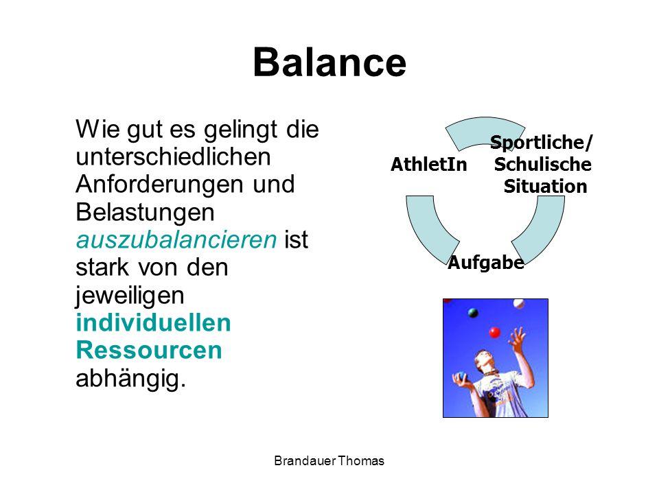 Brandauer Thomas Balance Wie gut es gelingt die unterschiedlichen Anforderungen und Belastungen auszubalancieren ist stark von den jeweiligen individuellen Ressourcen abhängig.