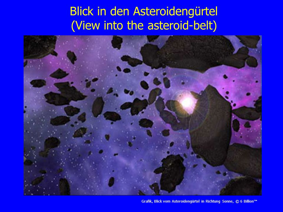 Kollisionsereignis im Asteroidengürtel (Collision event in the asteroid-belt) Grafik, Asteroidenkollision, © Asteroidspaper