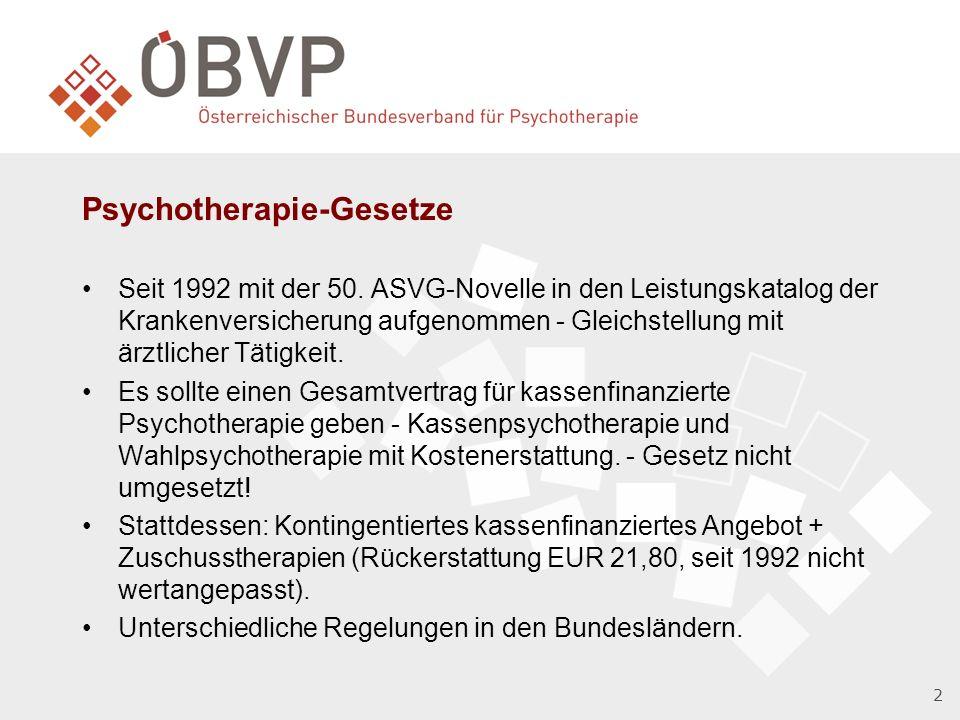 Psychotherapie-Gesetze Seit 1992 mit der 50.