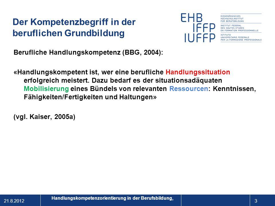 21.8.2012 4 1 Berufe kompetenzorientiert entwickeln: Von beruflichen Handlungssituationen ausgehend wird das Qualifikationsprofil erstellt: Ein Beruf besteht aus ca.