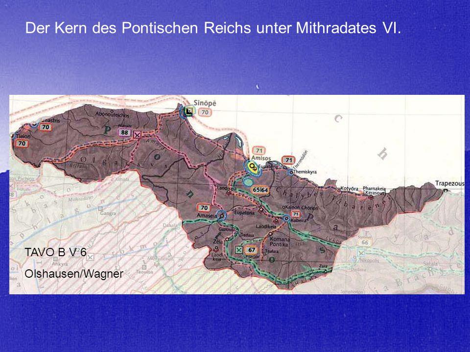 Der Kern des Pontischen Reichs unter Mithradates VI. TAVO B V 6 Olshausen/Wagner