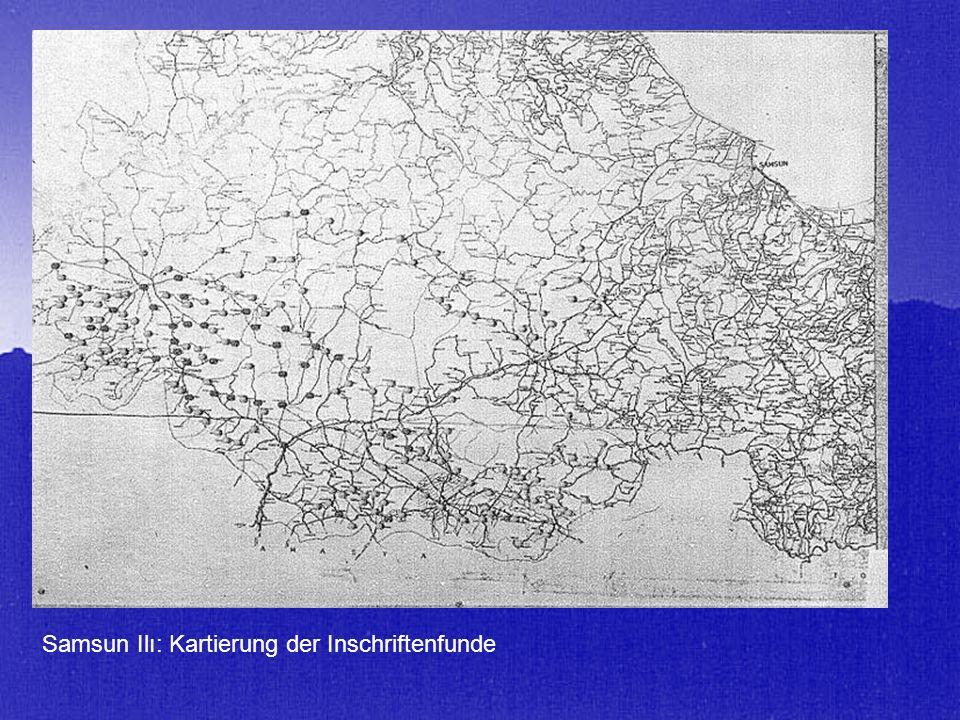 Samsun Ilı: Kartierung der Inschriftenfunde