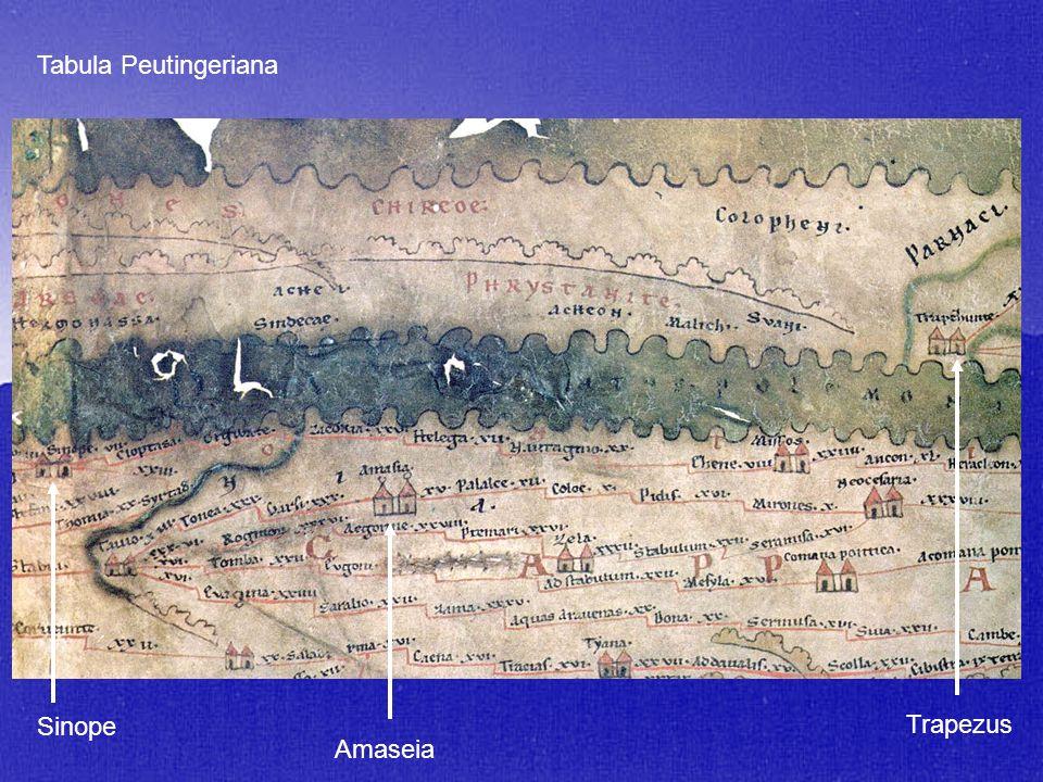Sinope Trapezus Amaseia Tabula Peutingeriana
