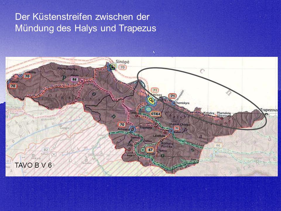Der Küstenstreifen zwischen der Mündung des Halys und Trapezus TAVO B V 6