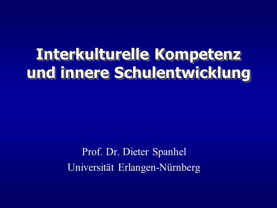 Interkulturelle Kompetenz und innere Schulentwicklung Prof. Dr. Dieter Spanhel Universität Erlangen-Nürnberg