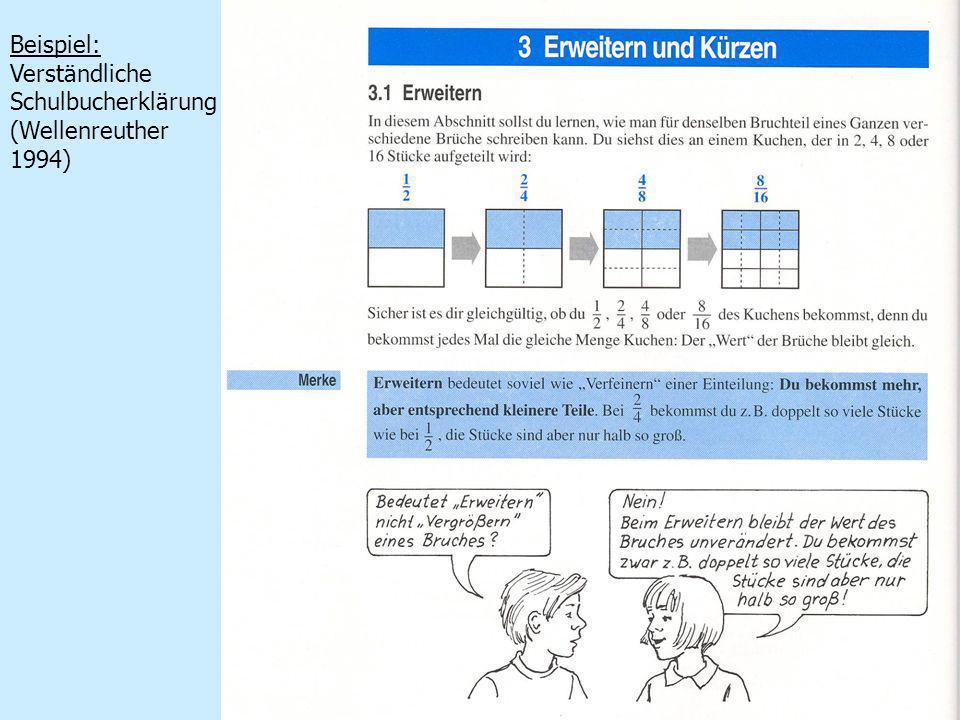 6 Beispiel: Verständliche Schulbucherklärung (Wellenreuther 1994)