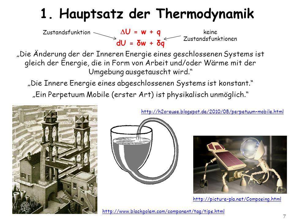 7 1. Hauptsatz der Thermodynamik http://h2oreuse.blogspot.de/2010/08/perpetuum-mobile.html http://picture-pla.net/Composing.html http://www.blackgolem