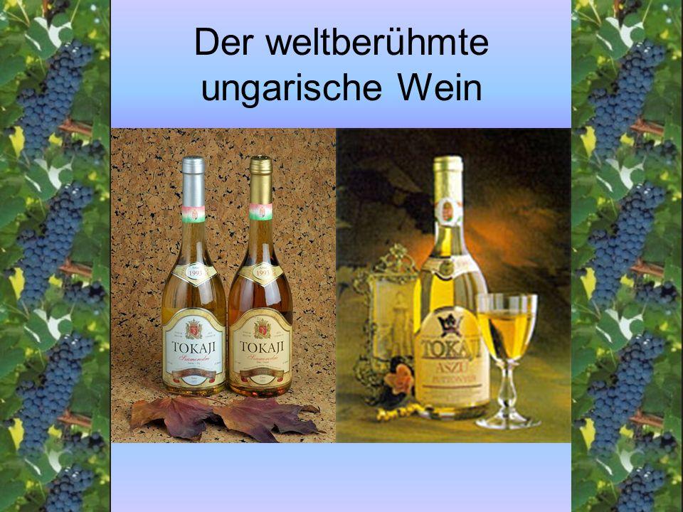 Der weltberühmte ungarische Wein