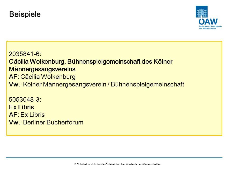 © Bibliothek und Archiv der Österreichischen Akademie der Wissenschaften Beispiele 2035841-6: Cäcilia Wolkenburg, Bühnenspielgemeinschaft des Kölner M