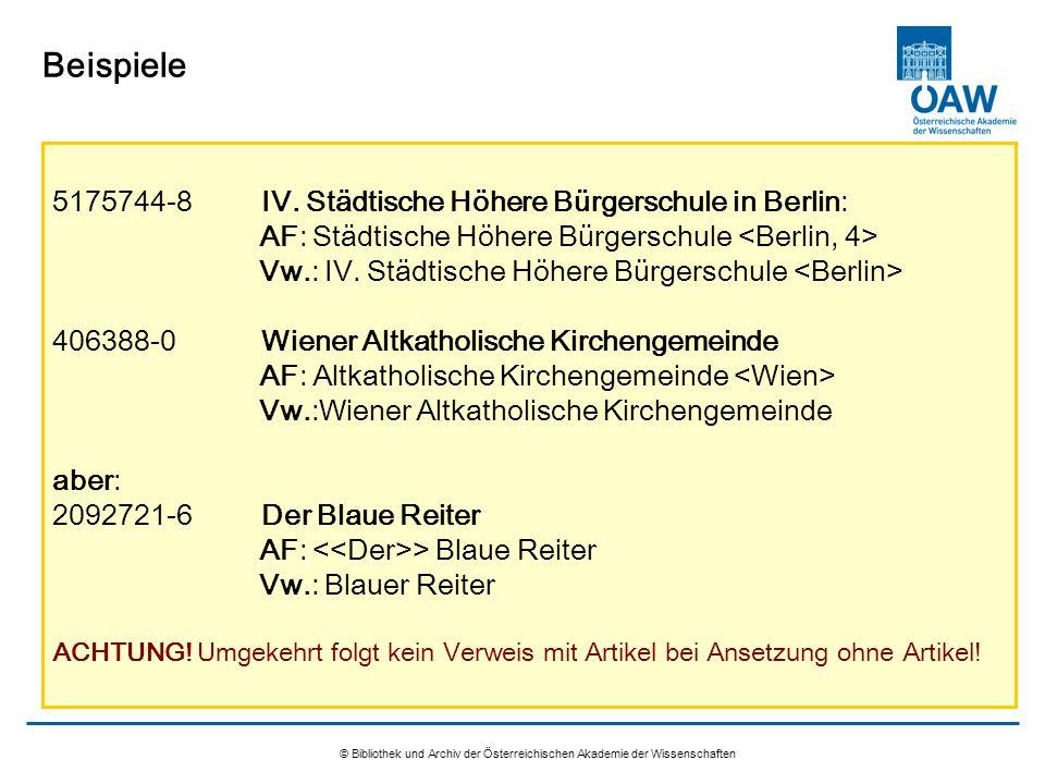 © Bibliothek und Archiv der Österreichischen Akademie der Wissenschaften Beispiele 5175744-8IV. Städtische Höhere Bürgerschule in Berlin: AF: Städtisc