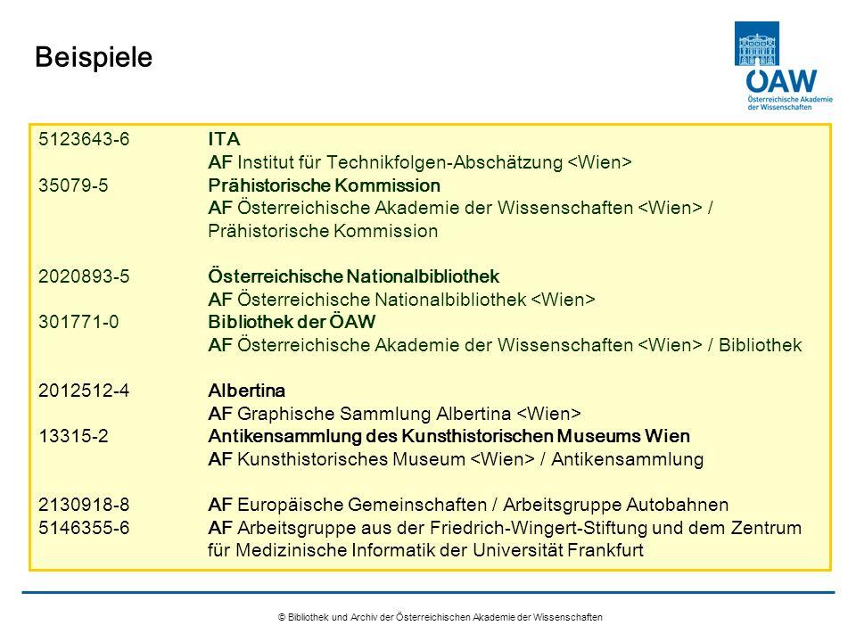 © Bibliothek und Archiv der Österreichischen Akademie der Wissenschaften Beispiele 5123643-6ITA AF Institut für Technikfolgen-Abschätzung 35079-5Prähi