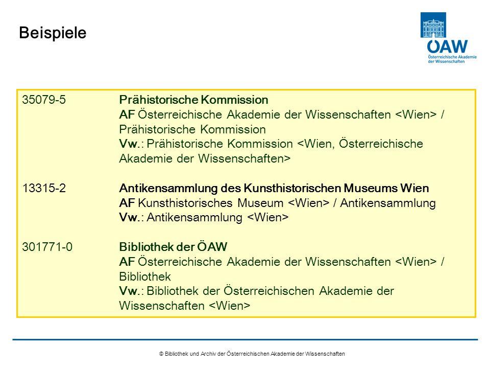 © Bibliothek und Archiv der Österreichischen Akademie der Wissenschaften Beispiele 35079-5Prähistorische Kommission AF Österreichische Akademie der Wi