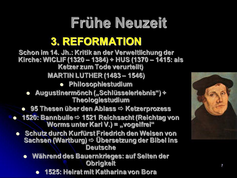 6 Frühe Neuzeit 2.RENAISSANCE + HUMANISMUS Wiedergeburt (der Antike) Ursprung: ~ 14.
