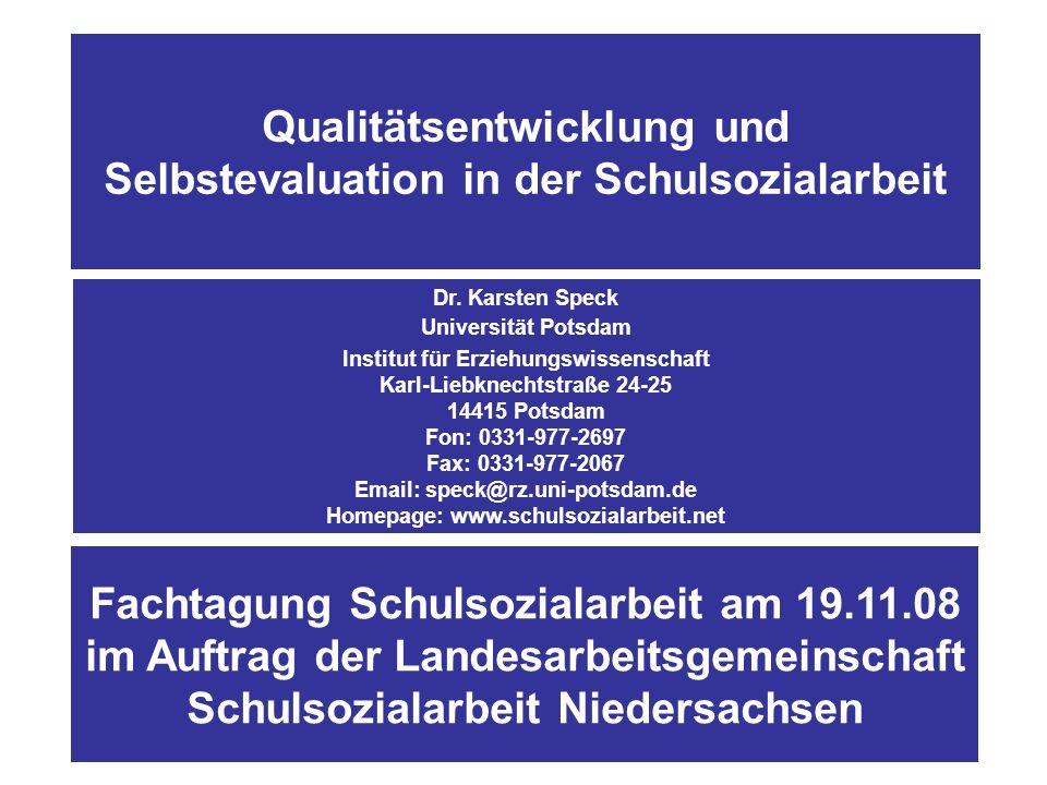 Abbildung 2: Gliederung (1.) 1.Kontext der Evaluations- und Qualitätsdebatte 3.